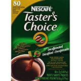 Nescafe Coffee, Taster's Choice Decaf Stick Pack, 4.79 Ounce Package, 80 Count