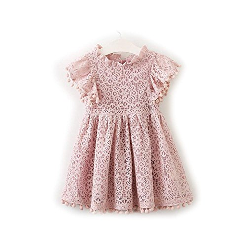 Mistere childrens-costumes Girls Clothing Cotton Flower Dresses for Girl Lace Princess Party Dresses,Cat,Pink -