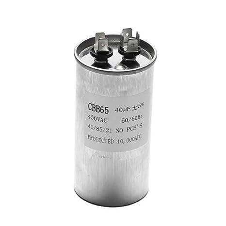 LaDicha 15-50uF Condensador del Motor Condensador de Arranque del Compresor del Aire Acondicionado CBB65 450VAC - F(40uF): Amazon.es: Hogar