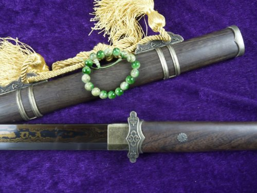 Chinese swords/TANG DAO SWORD/Damascus Steel blade/Rosewood Saya/Alloy/kung fu/Length 39""