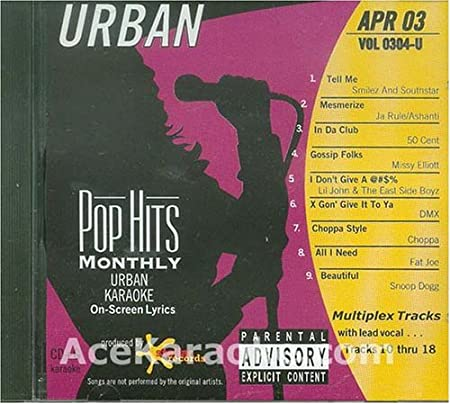 Karaoke Music CDG: Pop Hits Monthly Urban April 2003 CDG ...