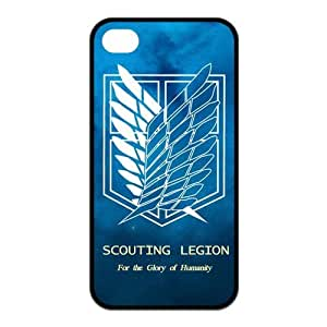 Goshoppinggo Iphone 4/4S Best Rubber Case The Hot Japanese Anime Attack on Titan Wings Of Liberty Flag by icecream design