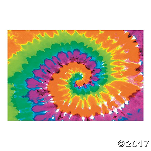 Psychedelic Party Decoration Backdrop (1960s Decorations)