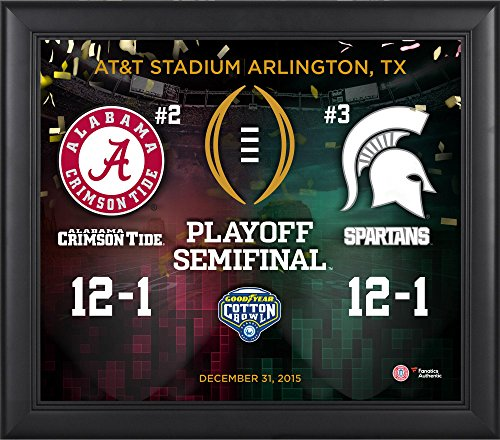 Alabama-Crimson-Tide-vs-Michigan-State-Spartans-2016-Cotton-Bowl-College-Football-Playoff-Framed-15-x-17-Collage-Fanatics-Authentic-Certified