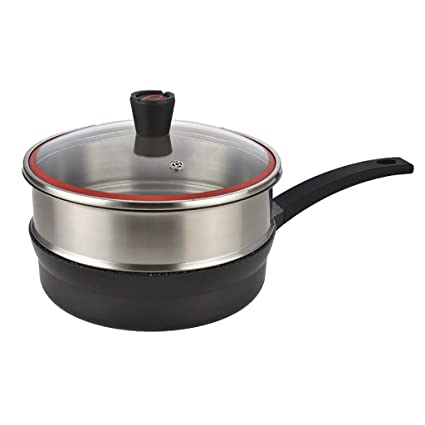 AYANGZ Antiadherente Sartén con Tapas, aleación de Aluminio Chef/Freír Sartenes Estufa Universal Woks