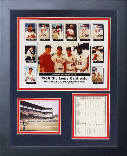 Legends Never Die 1964 St. Louis Cardinals Framed Photo Collage, 11x14-Inch