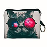 Coin Wallet,Neartime Coins Change Purse Zipper Wallet Small Key Bags Dog Cat Print (Hot Pink)