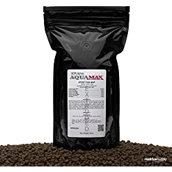 22oz. Purina AquaMax MVP, High Protein Pond Fish Blend, Multi-Pellet Size Fish Food Designed For Bass, Bluegill, Catfish, Brim, Perch and Other Fish In A Pond Feeding Program.