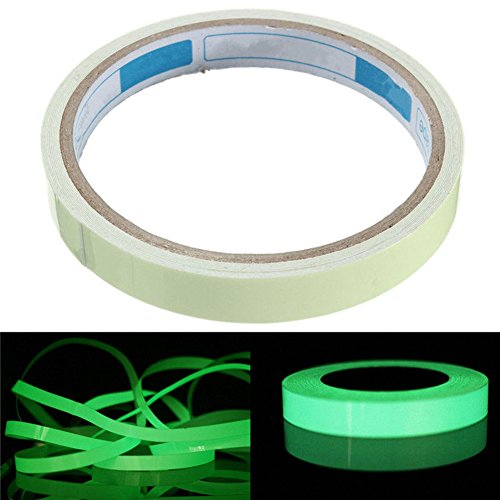 Reflective Tape Glow In The Dark Luminous Fluorescent Night Self-adhesive Safety Sticker by Delaman (25mm x (Reflective Glow Strips)