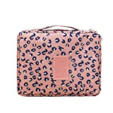GAOU Waterproof Floral Print Thickened cotton Travel Toiletry Organizer Cosmetic Makeup Bag Wash Bag Storage Bag Multi Pouch