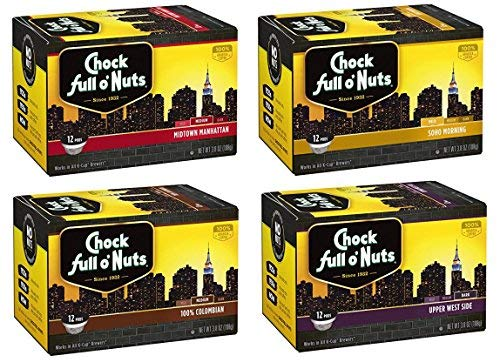 (Chock Full o'Nuts Regular Coffee Variety Single-Serve Cups, 48 Count)