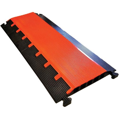 Elasco MG5200 Mighty Guard Cable Guard/Management, Heavy Duty, (5) 2'' Channels, 15,750 lb. per Tire Load Capacity, 37'' x 24'' x 2.5'', Orange/Black by Elasco Products (Image #2)