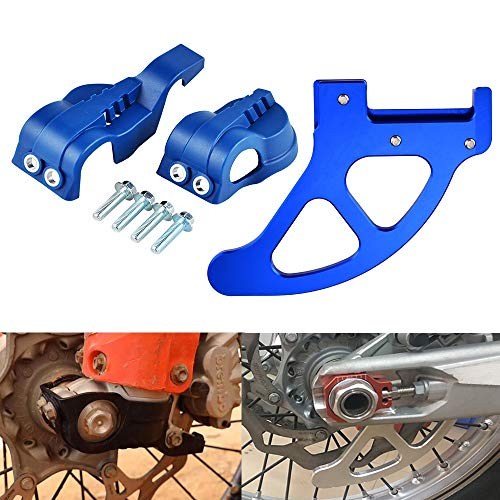 Star-Trade-Inc - Motorcycle Fork Shoes Cover Rear Brake Disc Guard Protector For Husqvarna TE FE TC FC FX TX 125 200 250 350 501 ()