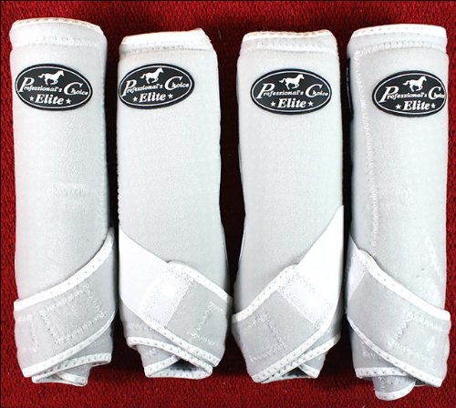 Professionals Choice Equine Sports Medicine Ventech Elite Leg Boot Value Pack, Set of 4 (Small, White)