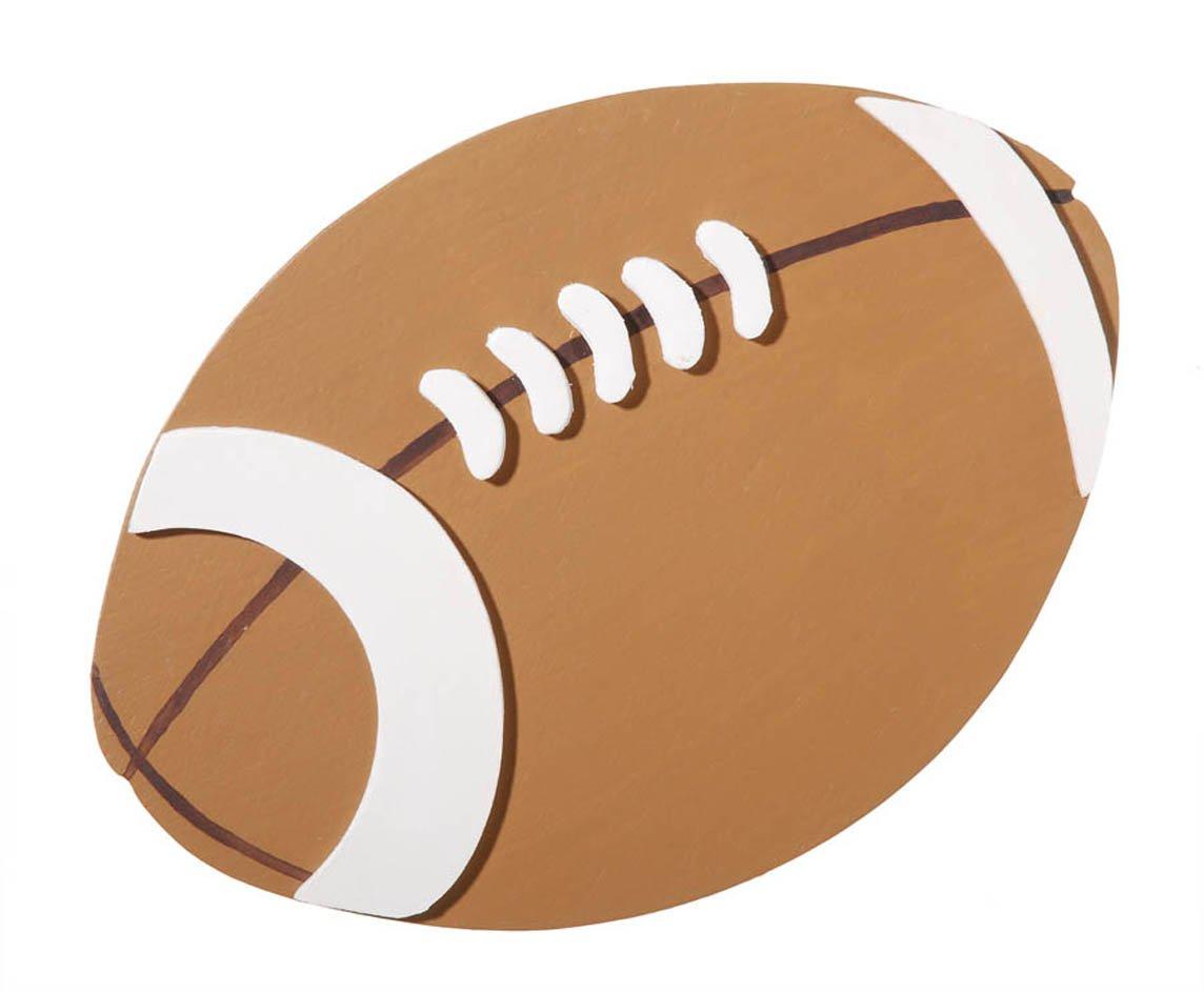 Darice 9199-35 Natural Painted Wood Cutout Large Football