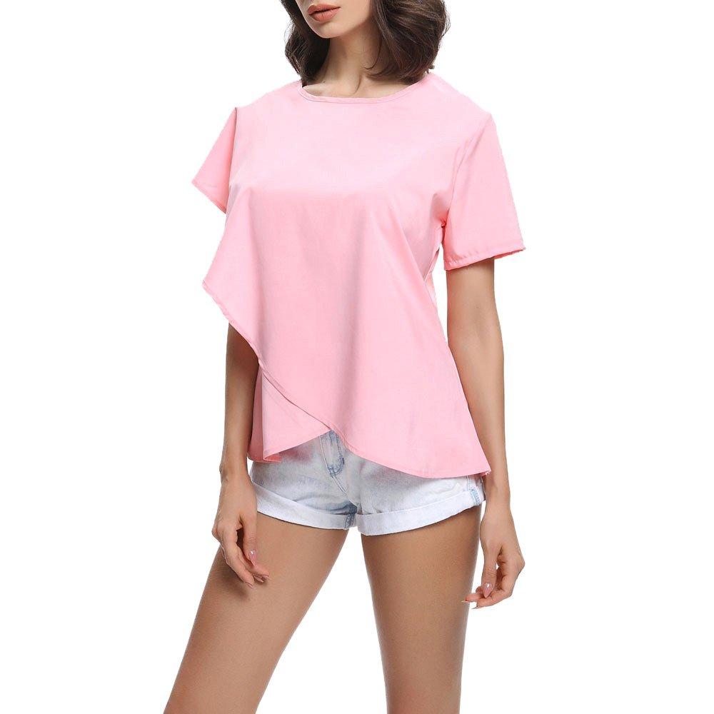Amazon.com: Blouses for Womens, FORUU Fashion Ladies Irregular Ruffles Solid T Shirts Tops: Clothing