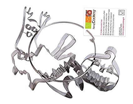 ScrapCooking 2045 Halloween Set di 4 tagliapasta su gancio in acciaio inox  multicolore 21 x 14 baaba269c610