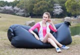 Inflatable Air Sofa Outdoor Couch Portable Furniture Sleeping Hangout Lounger Summer Camping Beach Relax Bed