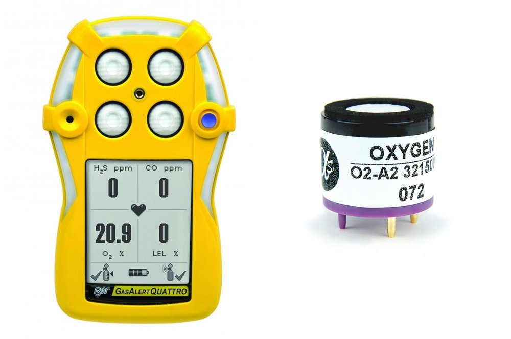 Replacement Oxygen Sensor for BW Technologies Gas Alert Quattro