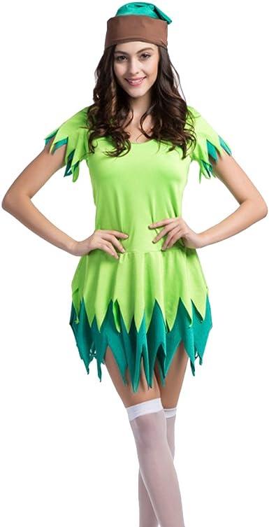 Traje de neopreno para Mujer Sexy Halloween Peter Pan Robin Hood ...