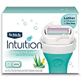 Schick Intuition Naturals Sensitive Care Womens Razor Refills with Vitamin E & Aloe, Pack of 6 Womens Razor Refills