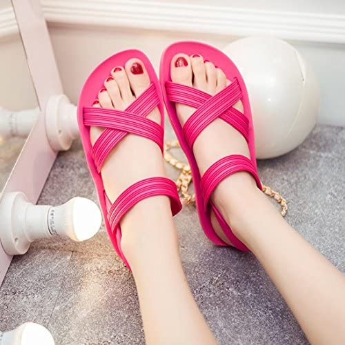 Women Pointed Ankle Straps Sandals CSSD Ladies Flats Pointed Toe Shallow Mouth Shoes Cross Strap Buckle Beach Sandals