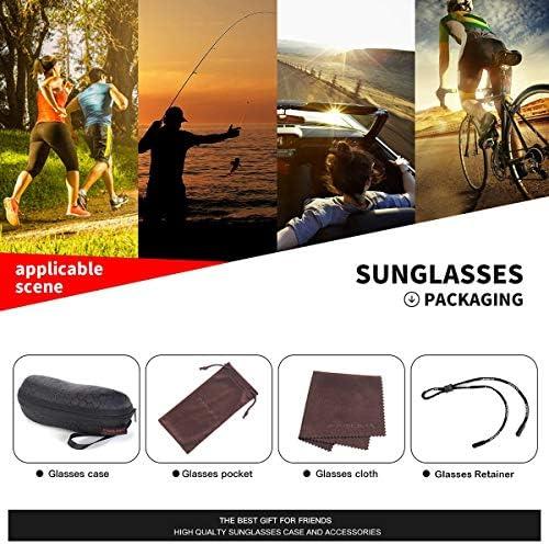 FAGUMA Sports Polarized Sunglasses For Men Cycling Driving Fishing Running 100% UV Protection