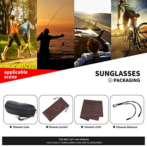 Sports Polarized Sunglasses For Men Cycling Driving Fishing 100% UV Protection 6