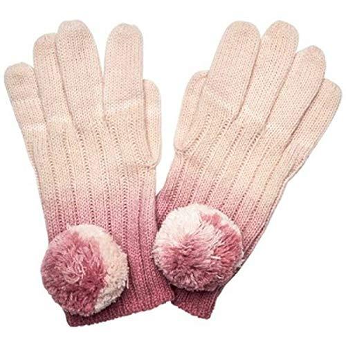 宿題パキスタンディーラー(サンディエゴハット) San Diego Hat Company レディース 手袋?グローブ Ombre Dye Knit Glove with Pom KNG3516 [並行輸入品]