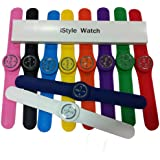 iStyle® Slap on Silicone Watch Quartz Sports Watch Kid Woman Man Unisex 10 Colors for Choosing