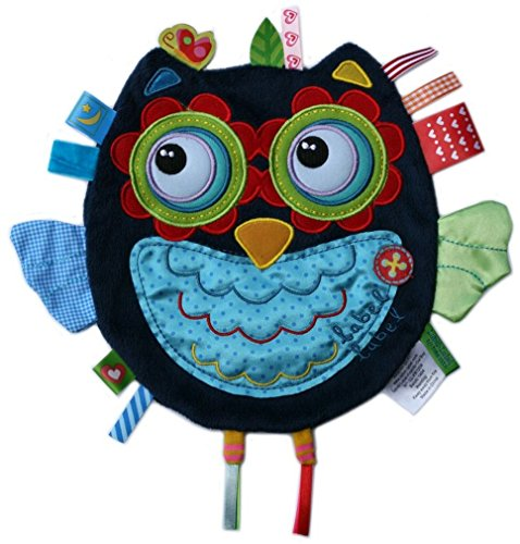 label label Friends Hootie Hoot Owl Silky Comfort Taggie Baby Soother (Monkey Diaper Cake)