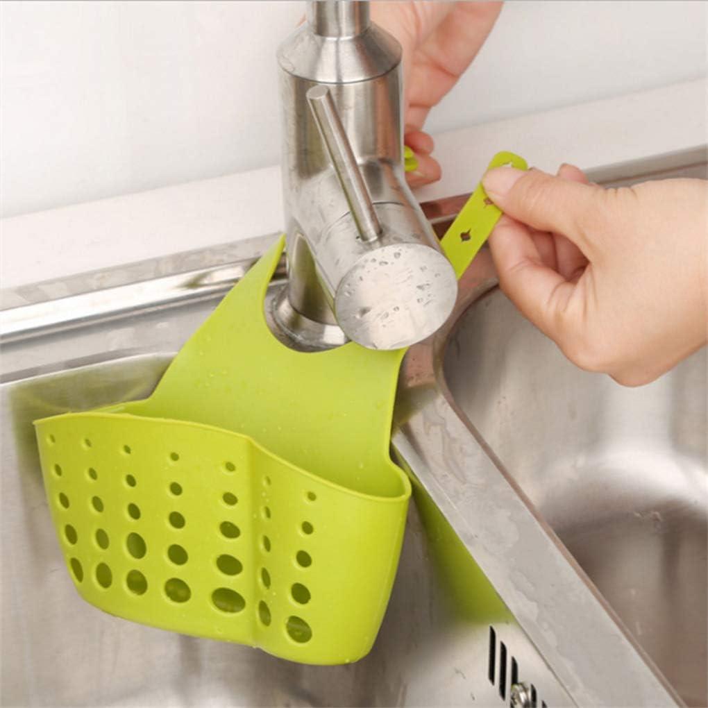 GFCGFGDRG PVC di plastica attaccatura Registrabile Cestini di immagazzinaggio Sink Spugna lavandino Spugna Holder Porta Sapone per lOrganizzazione Kitchen