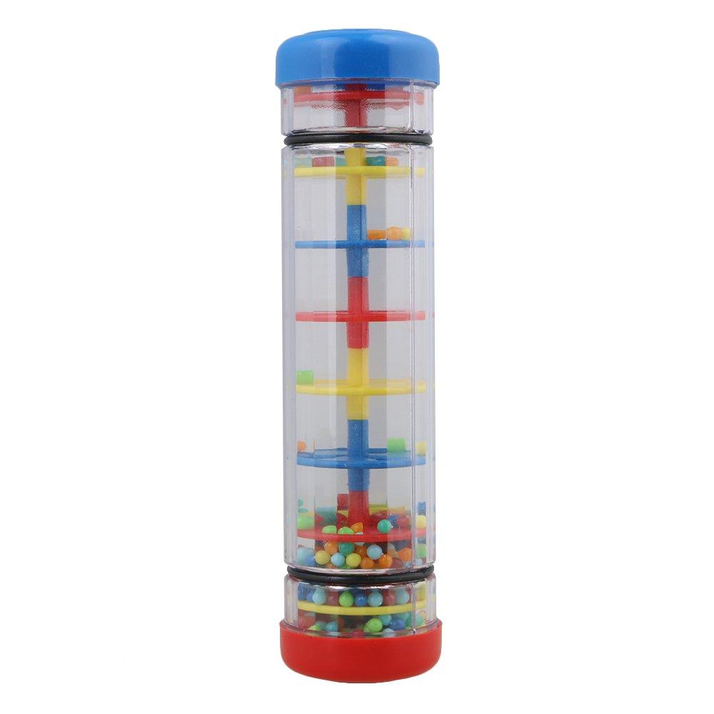 Mxfans Milticolor Plastic 7.8 Rainmaker Tube Shaker Children Music Sensory Toy blhlltd M3170821010
