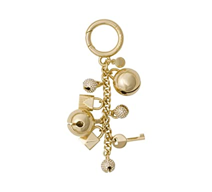 8f5b89facc68 Michael Kors Womens Pave Bell Fashion Keychain Gold O S at Amazon Women s  Clothing store