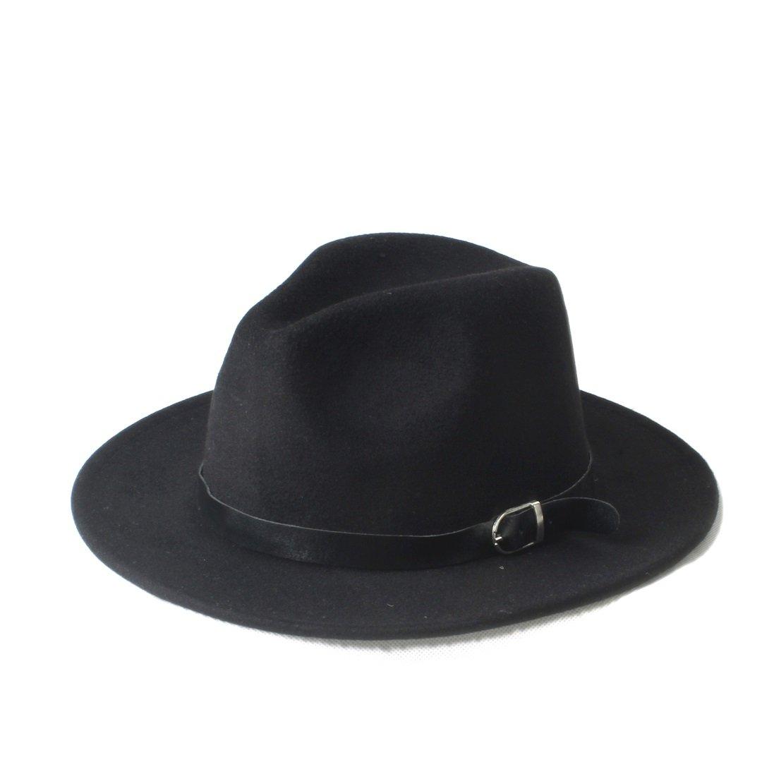 MILUCE New Fashion Men's Women's Chapeu Feminino Fedora Hat With Wide Brim Leather Band Cap ( Color : 10 , Size : 57-58cm ) MILUCE Cowboy Hats