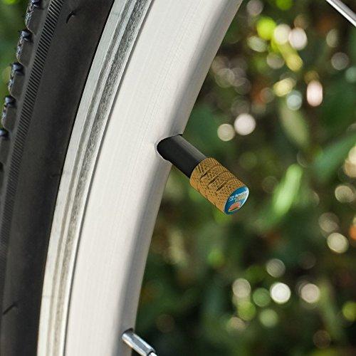 オートバイ自転車バイクタイヤリムホイールアルミバルブステムキャップ - ゴールド私の好きな色はチーズバーガーです