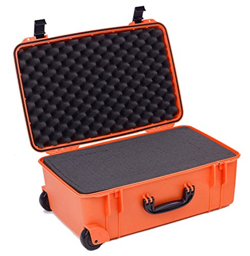 Seahorse 920FPL Protective Case with Foam and Plastic Locks, Neon -