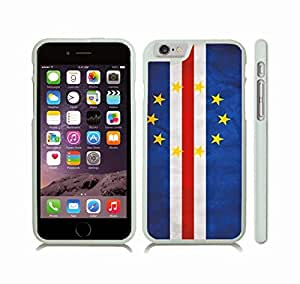 iStar Cases? iPhone 6 Plus Case with Cape Verde Flag Distressed Look Design , Snap-on Cover, Hard Carrying Case (White)