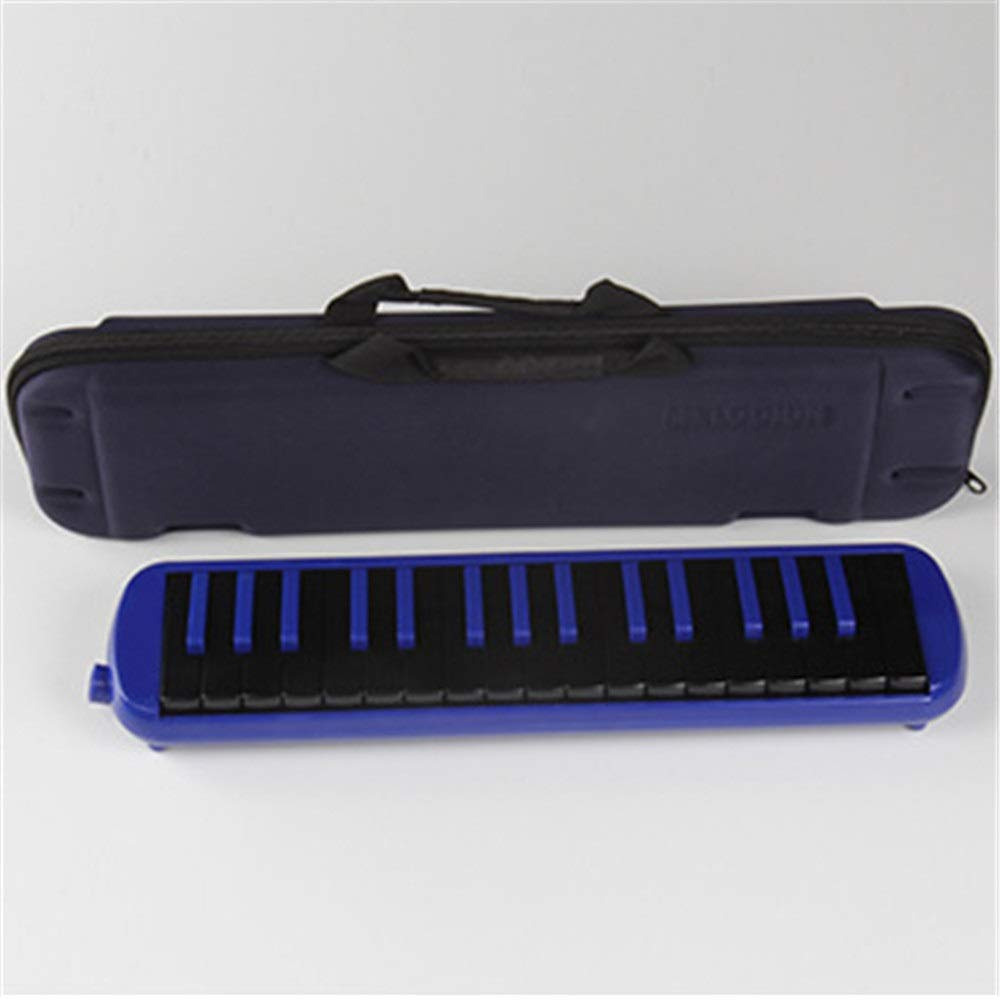 Melodica Musical Instrument Portable Piano Style Kids Melodica 32 Keys Musical Instrument Gift Toys For Music Lovers Beginners With Mouthpieces Tube Sets Carrying Bag Black Red Blue for Music Lovers B by Shirleyle-MU (Image #2)
