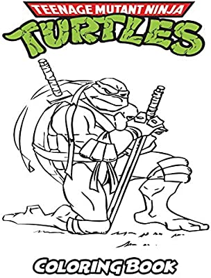 Teenage Mutant Ninja Turtles Coloring Book Coloring Book For Kids And Adults Activity Book With Fun Easy And Relaxing Coloring Pages By Ivazewa Alexa Amazon Ae