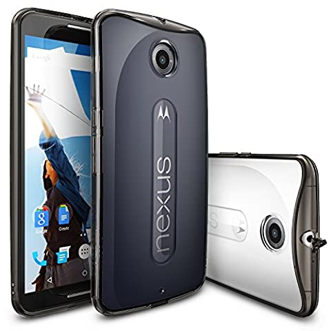 Ringke Shock Absorption Scratch Resistant Drop Protection Bumper Case Cover for Nexus 6 - Smoke (Nexus 6 Cell Phone Case)