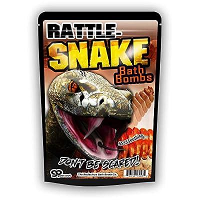 Gears Out XL Rattlesnake Bath Bombs Murky Green and Black Bath Balls for Boys Kids Bath Bombs Stocking Stuffers for Teen Boys Cool Bath Bombs for Boys Rattle Snake Bath Fizzers 5 Ounces, Set of 2: Toys & Games