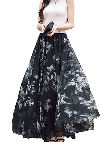 Jupe Pleine Cheville Femmes Long Design Plage A Jupe Longueur Afibi Maxi Blend Chiffon q68wgpFpx