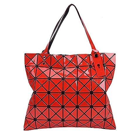 69d5698ed705 2018 Summer Hot Colors Bao Tote Handbag Fashion Plaid Bag Bolsos Laser  Handbags Womens Hand Bags Designers Red