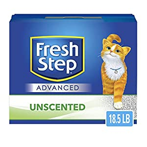 Fresh Step Advanced Clumping Cat Litter with Activated Charcoal & Natural Odor Control – Unscented