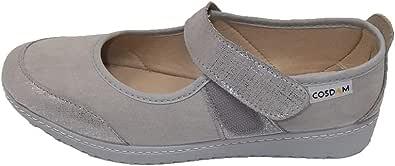 Zapato/Mujer/Cosdam/Plantilla Extraíble/Apto Plantilla ortopédica/Empeine Téxtil/Colores: Gris Perla/Beige/Gris Estampado