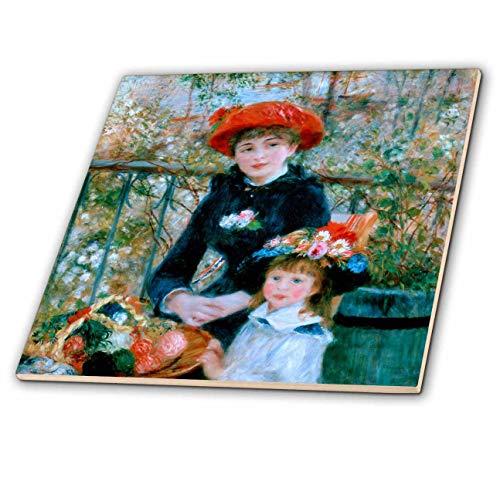 3dRose VintageChest - Masterpieces - Renoir - Children - 12 Inch Ceramic Tile (ct_303057_4)