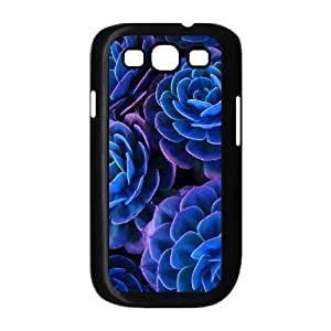 Blue Flowers The Unique Printing Art Custom Phone Case for Samsung Galaxy S3 I9300,diy cover case ygtg611814