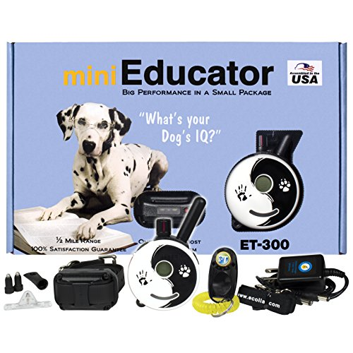 E-Collar – ET-300ZEN – 1 2 Mile Remote Waterproof Trainer Mini Educator – Static, Vibration and Sound Stimulation Collar with PetsTEK Dog Training Clicker