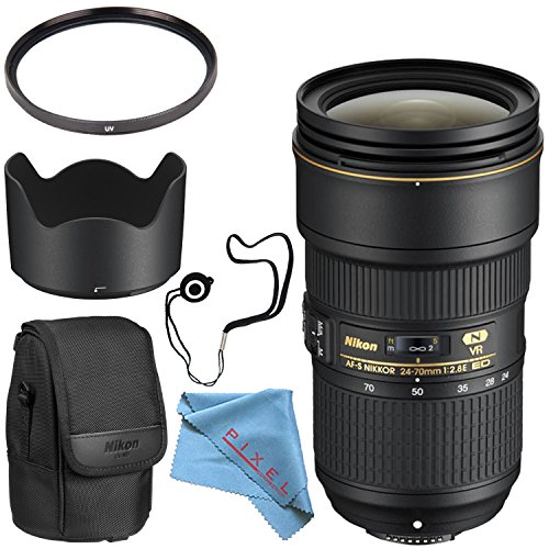 Nikon AF-S NIKKOR 24-70mm f/2.8E ED VR Lens Bundle